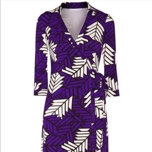 DVF New Julian Too Mini Wrap Dress